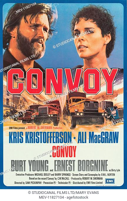 Convoy (1978) Kris Kristofferson , Ali McGraw, Film poster