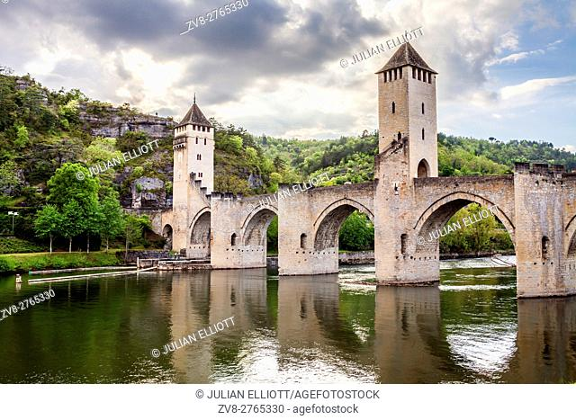 Pont Valentre in the city of Cahors, France