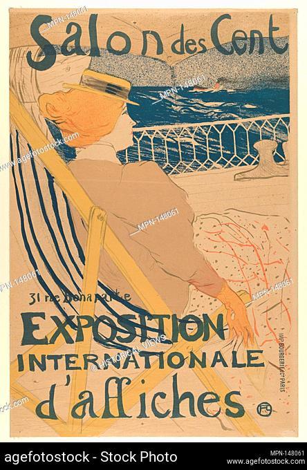 Salon des Cent: Exposition Internationale d'affiches. Artist: Henri de Toulouse-Lautrec (French, Albi 1864-1901 Saint-André-du-Bois); Date: 1895; Medium:...