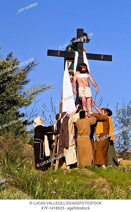 Live Holy week 'pasión' at Riogordo  Málaga province  Andalucia  Spain