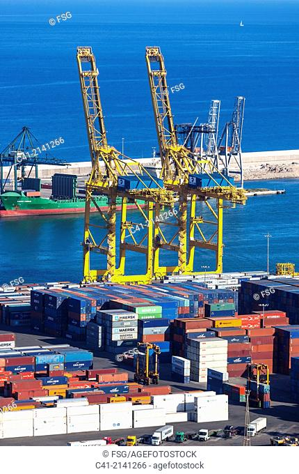 Container terminal. Port of Barcelona. Barcelona. Spain
