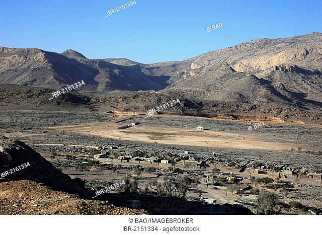 Landscape formation d Jebel Shams Mountain, Oman, Arabian Peninsula, Middle East, Asiad