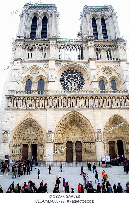 Notre Dame Cathedral, Ile de la Cite, Paris, France, Western Europe