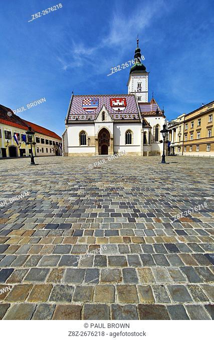 St. Mark's Church in St. Mark's Square in Zagreb, Croatia