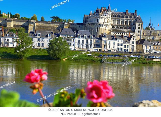 Amboise, Castle, Chateau d'Amboise, Amboise Castle. Indre-et- Loire, Loire Valley, Loire River, UNESCO World Heritage Site, France
