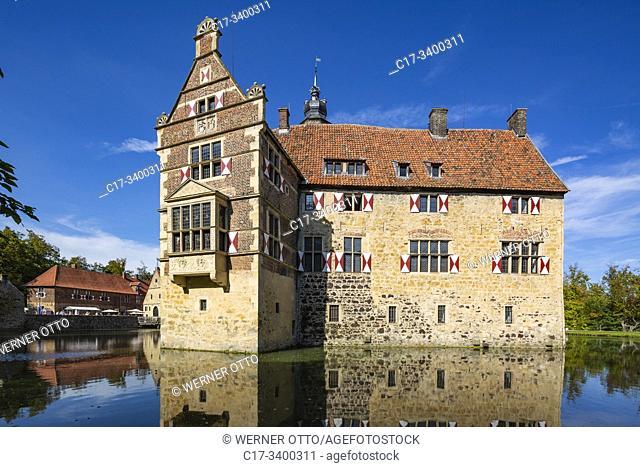 Luedinghausen, D-Luedinghausen, Stever, Muensterland, Westphalia, North Rhine-Westphalia, NRW, Vischering Castle, moated castle, knights castle, Middle Ages