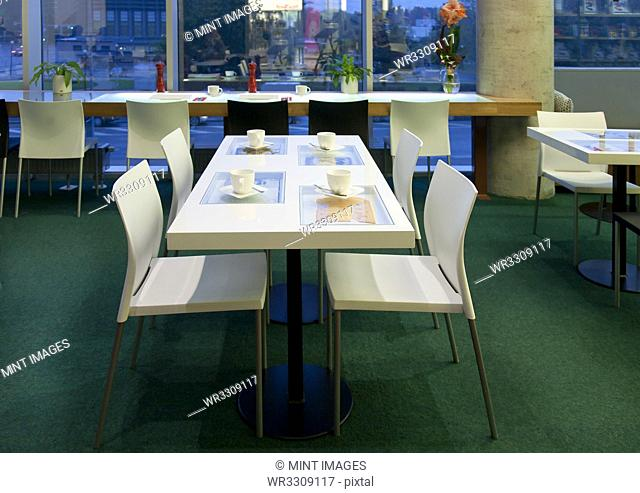 Dining Table in an Upscale Cafe