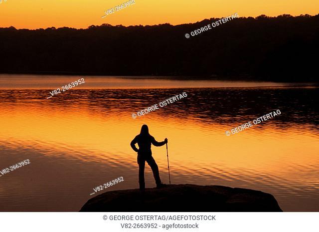 Watchaug Pond dawn, Burlingame State Park, Rhode Island