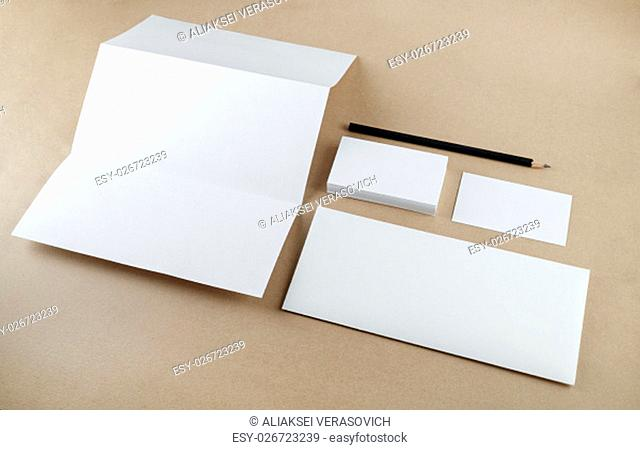 Blank stationery template for branding identity for designers. Mockup for ID