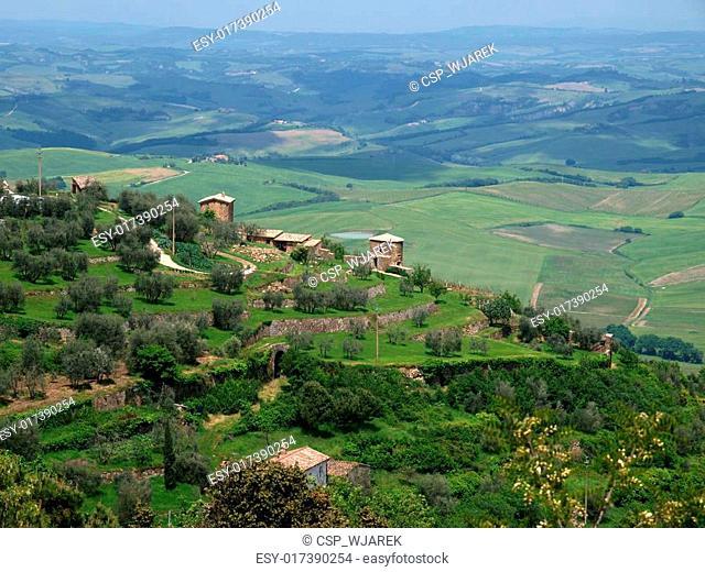 The hills around Montalcino, Tuscany, Italy