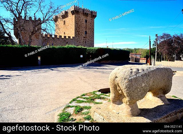 Stone verraco. Villaviciosa, Solosancho, Avila, Spain