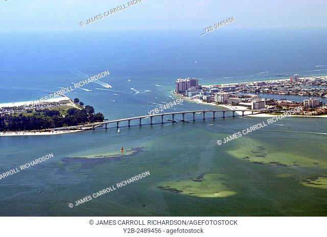 Bridge at Clearwater Pass linking Clearwater Beach to Sand Key near Tampa Florida