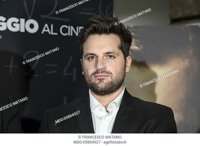 The italian actor Frank Matano (Francesco Matano) at the photocall of the film Tonno Spiaggiato, directed by Matteo Martinez with Frank Matano at the Cinema...