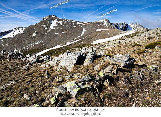 Lobo peak in the Sierra Norte. Cerezo de Arriba. Segovia. Castilla Leon. Spain. Europe