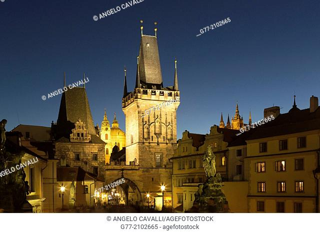 Czech Republic. Prague. The Old Town. View from Charles Bridge
