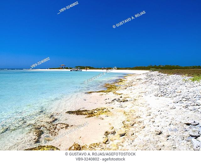 Tropical beach of island noronqui, Los Roques, Venezuela
