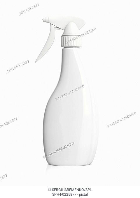 Plastic spray bottle, illustration