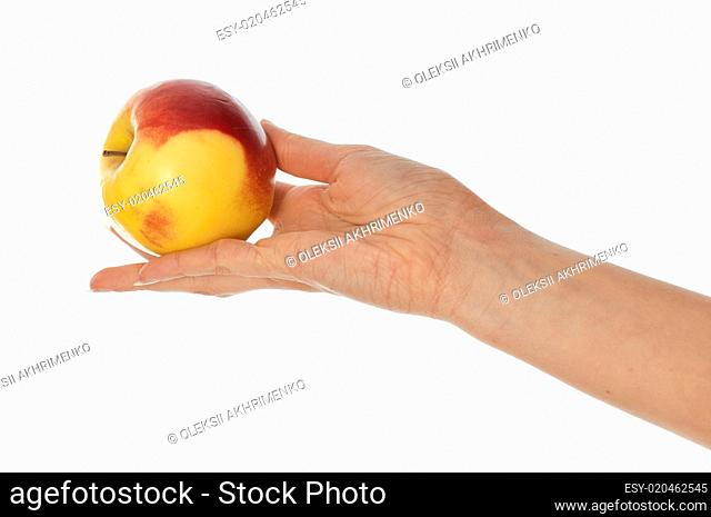 yellow with red-edged apple