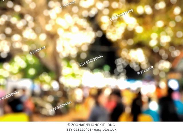 Blurred and soft photo of night festival