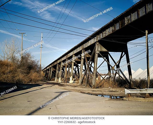 Bridge in a industrial zone in cleveland