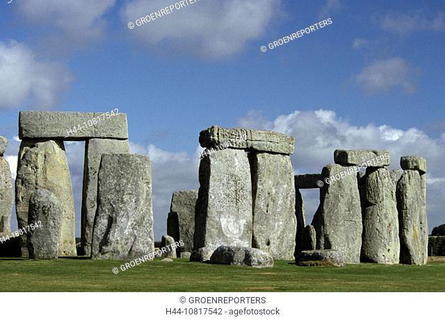 Stonehenge, prehistoric, stones, menhir, symbol, travel, holiday, vacation, tourism, history, landscape, blue, sky, gr
