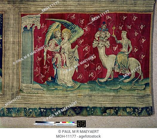 La Tenture de l'Apocalypse d'Angers, La Prostituée sur la Bête 1,52 x 2,45m, die große Hure auf dem Tier