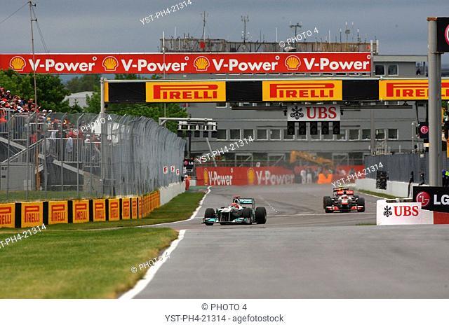 Michael Schumacher, Jenson Button, Formula One, Canadian Grand Prix, Montreal, Canada