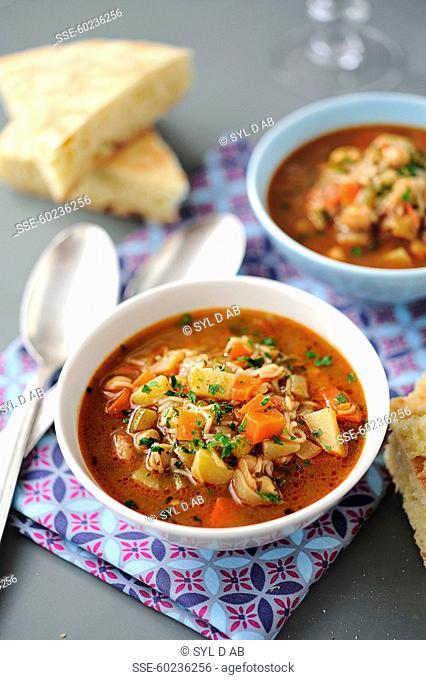 Bowls of Corba soup