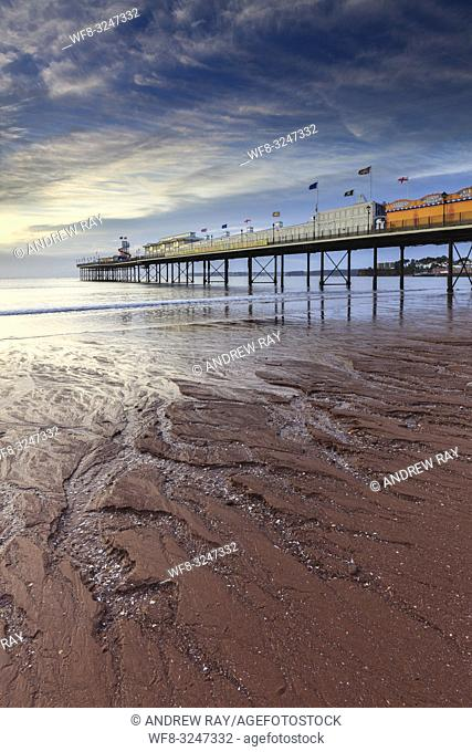 Sand patterns at Paignton Pier captured on a morning in September