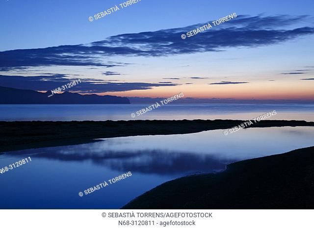 Dawn at Pollensa Bay, Majorca, Balearic Islands, Spain