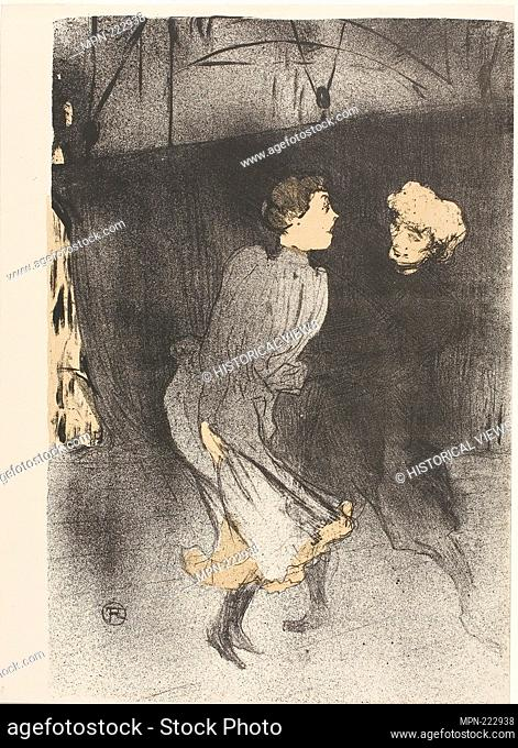 Rehearsal at the Folies-Bergère, Emilenne D'Alençon and Mariquita - 1893 - Henri de Toulouse-Lautrec French, 1864-1901 - Artist: Henri de Toulouse-Lautrec
