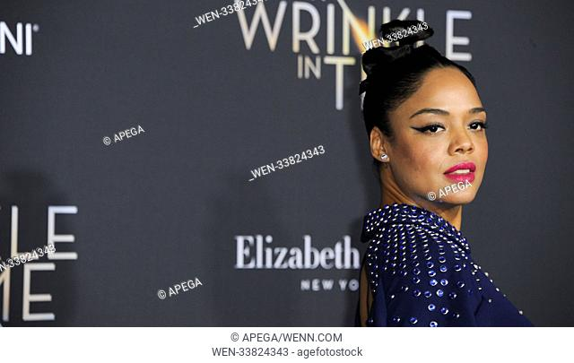 Film Premiere of A Wrinkle in Time Featuring: Tessa Thompson Where: Los Angeles, California, United States When: 27 Feb 2018 Credit: Apega/WENN.com