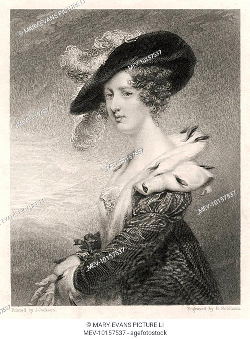 GEORGIANA baroness DOVER (nee Howard) wife of George Agar- Ellis, first baron. with her autograph
