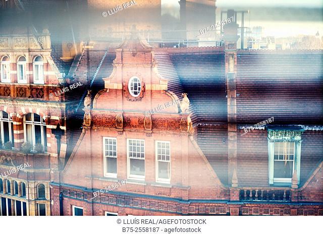Red brick building in Symons St. Chelsea, London SW3 2TJ. England, UK