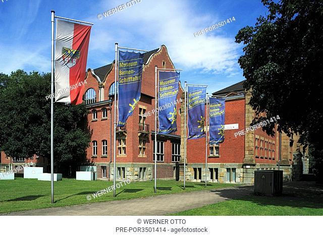 Museum of German Inland Navigation in Duisburg-Ruhrort, Duisburg city, Rhine, Lower Rhine, Ruhr area, North Rhine-Westphalia, Germany, Europe