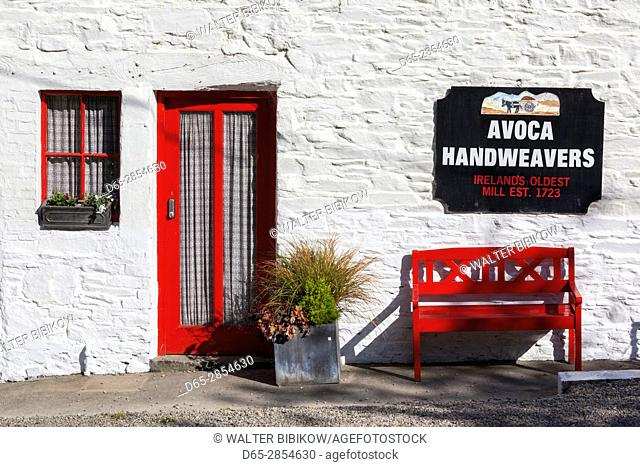 Ireland, County Wicklow, Avoca, Avoca Handweavers, weavers housed in Ireland's oldest working mill, since 1723