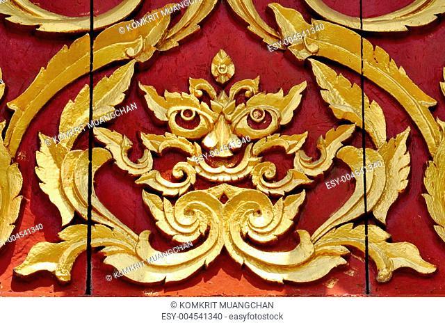 Thai art in temple