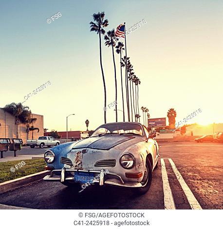 Volkswagen Type 14 Karmann Ghia. Los Angeles. California, USA