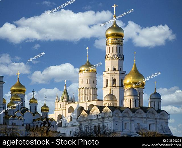 The Assumption Cathedral. The Kremlin. . Moscow. Russian Federation