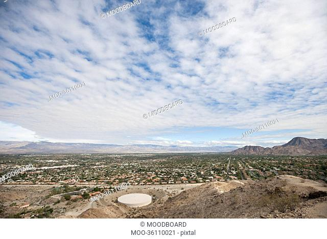 View of landscape with cloudy sky