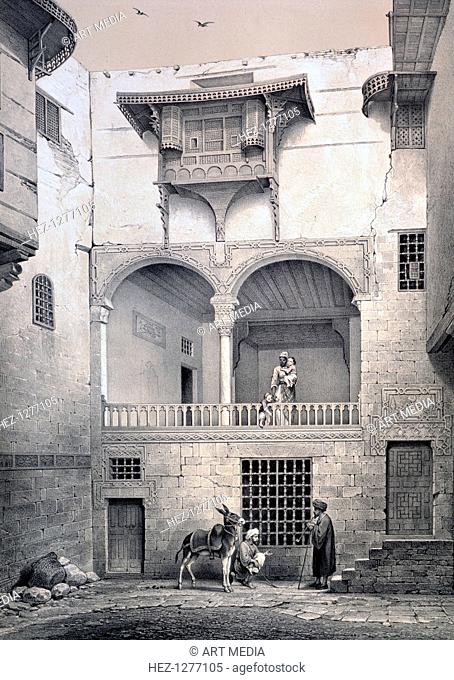 'House of Beyt El-Tcheleby', 19th century. Found in the collection of the La Bibliothèque nationale de France, Paris