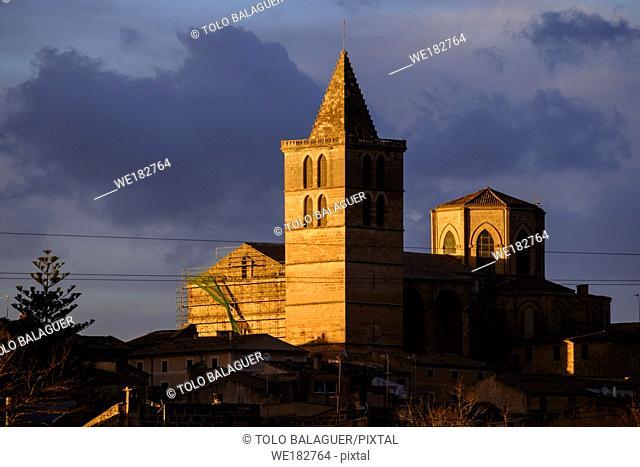 Iglesia Parroquial de Santa Maria, del S. XIII, reconstruida en el S. XVI, Sineu, Mallorca, balearic islands, spain, europe