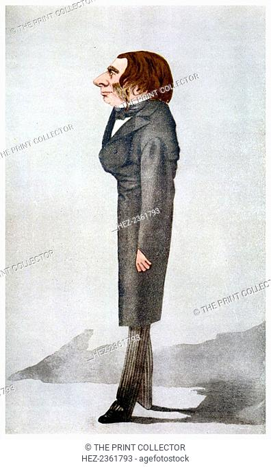 John Ruskin, British artist, poet and critic, 1872 (1956). A Vanity Fair cartoon. Ruskin (1819-1900) was a supporter of the Pre-Raphaelites and an inspiration...