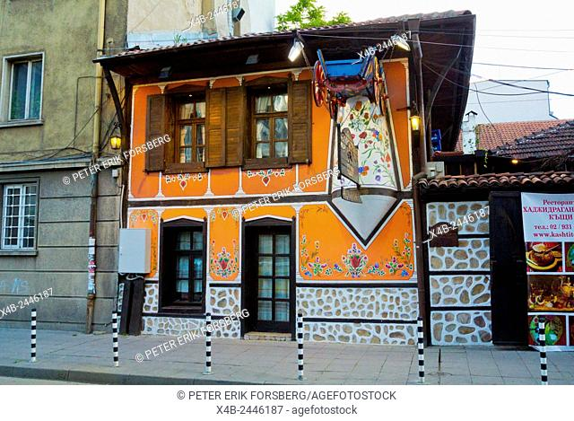 Hadriganov's houses, traditional restaurant, Sofia, Bulgaria, Europe
