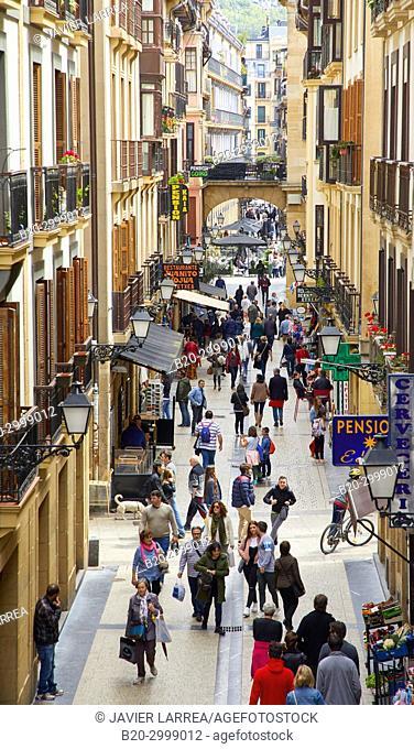 Portu Kalea, Calle Puerto, Parte Vieja, Old Town, Donostia, San Sebastian, Gipuzkoa, Basque Country, Spain