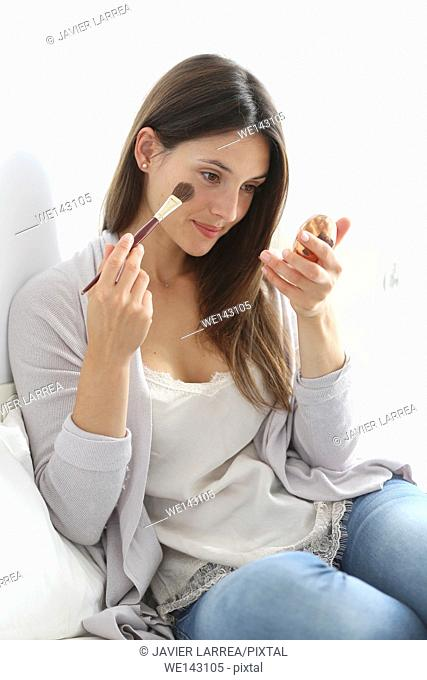 Young woman, make up