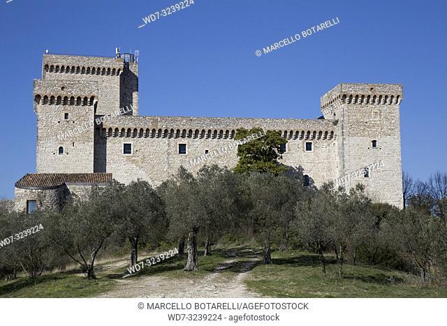 Rocca Albornoziana in Narni, near Terni, Umbria, Italy