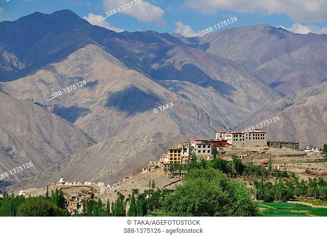 View of Phyan monastery in the quiet village