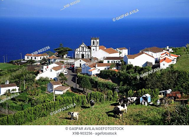 Partial view of Pedreira do Nordeste village  Sao Miguel island, Azores, Portugal