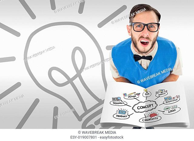 Composite image of concept flowchart